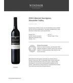 2016 Windsor Vineyards Cabernet Sauvignon, Private Reserve, Sonoma County