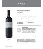 2016 Windsor Vineyards Cabernet Sauvignon, Private Reserve, Paso Robles