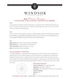 2009 Windsor Vineyards Cabernet Sauvignon, Platinum Series, Oakville, Napa Valley