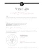2010 Windsor Vineyards Cabernet Sauvignon, Platinum Series, Alexander Valley