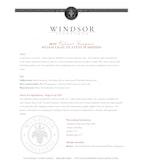 2010 Windsor Vineyards Cabernet Sauvignon, Platinum Series, Stags Leap