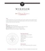 2011 Windsor Vineyards Cabernet Sauvignon, California