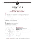 2011 Windsor Vineyards Cabernet Sauvignon, Private Reserve, North Coast