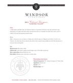 2011 Windsor Vineyards Cabernet Sauvignon, North Coast