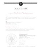 2011 Windsor Vineyards Cabernet Sauvignon, Platinum Series, Oakville, Napa Valley