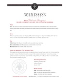 2012 Windsor Vineyards Cabernet Sauvignon, Platinum Series, Alexander Valley