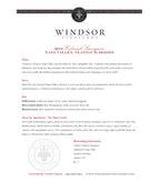 2012 Windsor Vineyards Cabernet Sauvignon, Platinum Series, Napa Valley