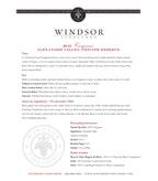 2010 Windsor Vineyards Carignane, Platinum Series, Alexander Valley
