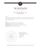 2011 Windsor Vineyards Chardonnay, Unoaked, California