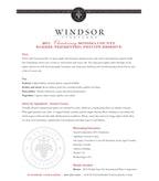 2011 Windsor Vineyards Chardonnay, Barrel Fermented, Private Reserve, Sonoma County
