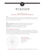 2011 Windsor Vineyards Chardonnay, Private Reserve, Sonoma County