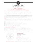 2012 Windsor Vineyards Chardonnay, Platinum Series, Evelyn Parrish Vineyard, Russian River Valley