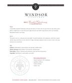 2013 Windsor Vineyards Chardonnay, Unoaked, California