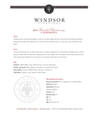 2015 Windsor Vineyards Chardonnay, Unoaked, California