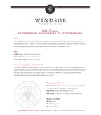 2011 Windsor Vineyards Meritage, Platinum Series, Rutherford, Napa Valley