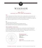 2012 Windsor Vineyards Merlot, Private Reserve, Sonoma County