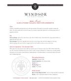 2010 Windsor Vineyards Moscato, Private Reserve, Alexander Valley