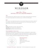 2013 Windsor Vineyards Pinot Grigio, Private Reserve, Sonoma County