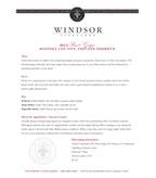 2014 Windsor Vineyards Pinot Grigio, Private Reserve, Sonoma County