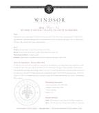 2012 Windsor Vineyards Pinot Noir, Platinum Series, Russian River Valley