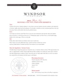 2012 Windsor Vineyards Pinot Noir, Private Reserve, Sonoma County