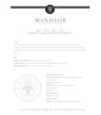 2011 Windsor Vineyards Three Vines Red, Private Reserve, North Coast