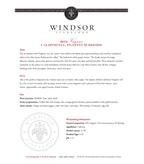 2012 Windsor Vineyards Viognier, Platinum Series, California