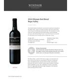 2014 Windsor Vineyards Ultimate Red Blend, Platinum Series, Napa Valley