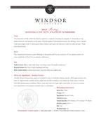 2013 Windsor Vineyards Meritage, Platinum Series, Sonoma County