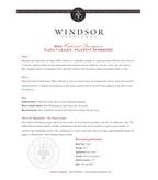 2014 Windsor Vineyards Cabernet Sauvignon, Platinum Series, Napa County
