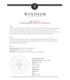 2014 Windsor Vineyards Syrah, Private Reserve, Paso Robles
