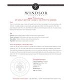 2014 Windsor Vineyards Chardonnay, Platinum Series, Russian River Valley